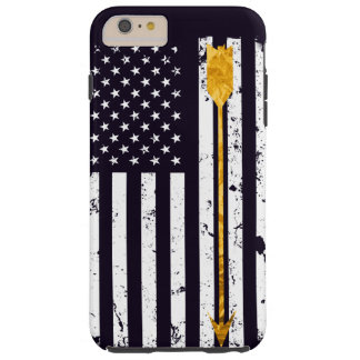 Archery Golden Arrow Distressed Flag Tough iPhone 6 Plus Case
