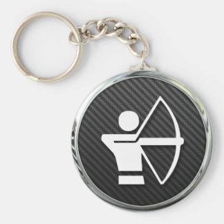Archery Icon Basic Round Button Keychain