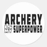 Archery is my superpower classic round sticker