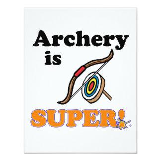 archery is super 4.25x5.5 paper invitation card