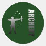 Archery London to Rio de Janeiro Archers Classic Round Sticker