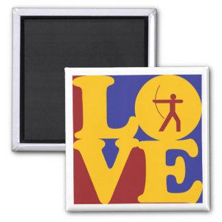 Archery Love 2 Inch Square Magnet