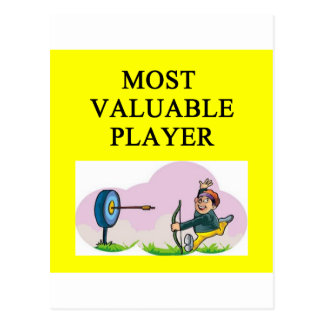 ARCHERY most valuable player Postcard