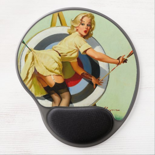Archery pin up girl gel mouse pad zazzle