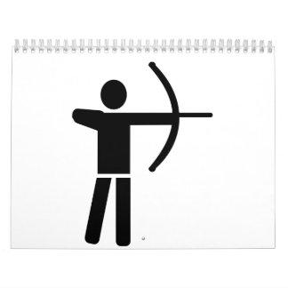 Archery player calendar
