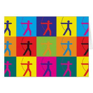 Archery Pop Art Card