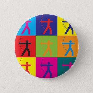 Archery Pop Art Pinback Button