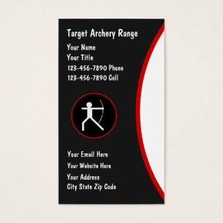 Archery Range Business cards