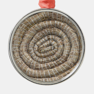Archery Round Coiled Straw Target Metal Ornament