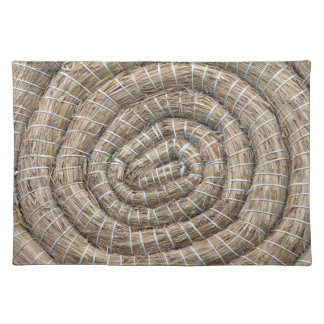 Archery Round Coiled Straw Target Placemat