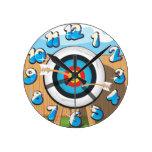 Archery Round Wall Clocks