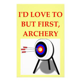 archery stationery