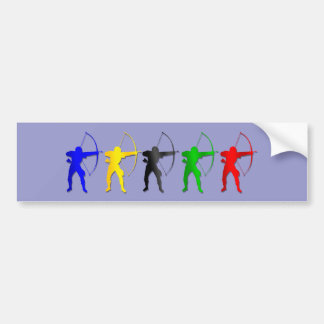 Archery Summer Games   Archer Sports Car Bumper Sticker
