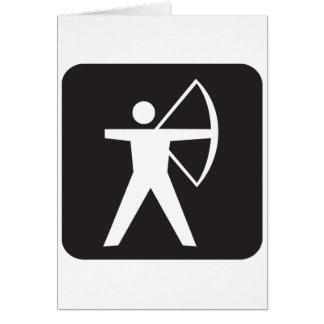 Archery Symbol Greeting Cards