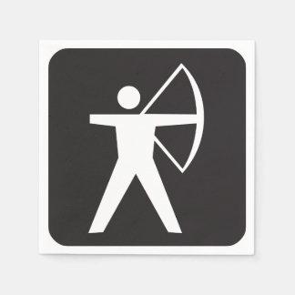 Archery Symbol Paper Napkins