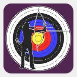 Archery & target 01 正方形シールステッカー