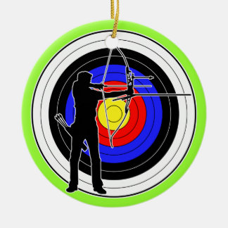 Archery & target 01 ceramic ornament