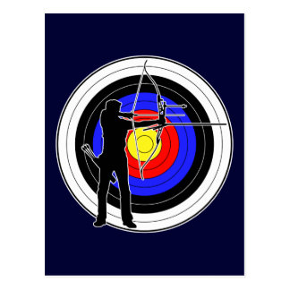 Archery & target 01 post cards