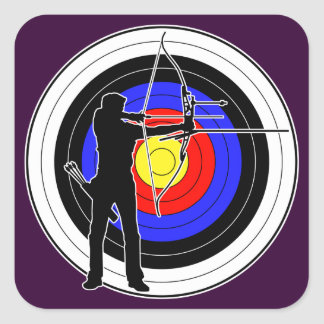 Archery & target 01 square sticker