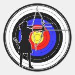 Archery & target 02 丸形シール・ステッカー