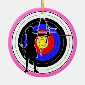 Archery & target 02 ceramic ornament