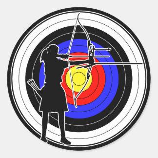 Archery & target 02 classic round sticker