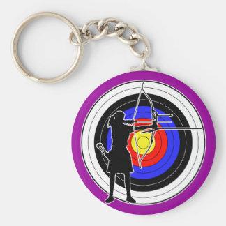 Archery & target 02 keychain