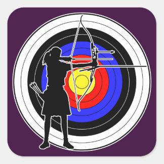Archery & target 02 square sticker