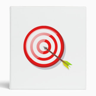 Archery Target and Arrow 3 Ring Binder