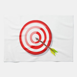 Archery Target and Arrow Kitchen Towels