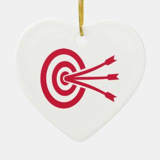 Archery target arrows christmas tree ornament