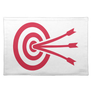Archery target arrows cloth placemat