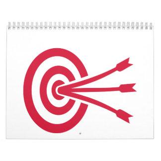Archery target arrows calendar