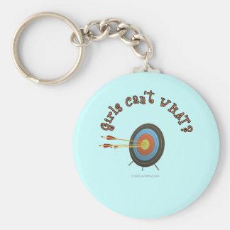 Archery Target Bullseye Keychain