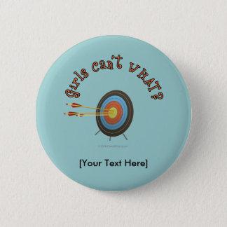 Archery Target Bullseye Pinback Button
