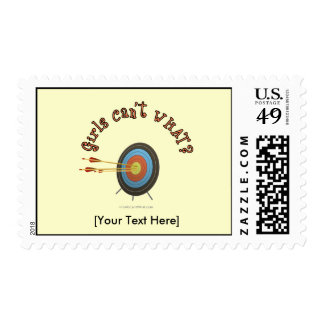 Archery Target Bullseye Postage Stamp