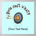 Archery Target Bullseye Poster
