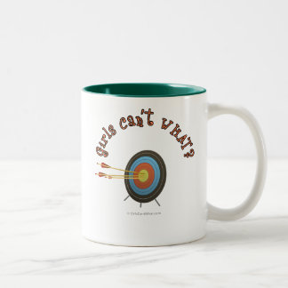 Archery Target Bullseye Two-Tone Coffee Mug