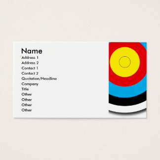 Archery Target Business Card