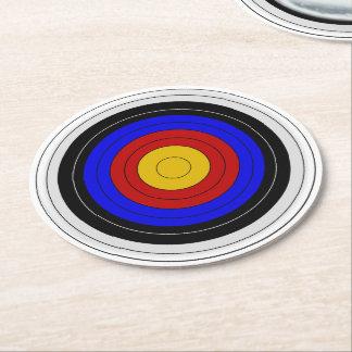Archery Target Design Round Paper Coaster