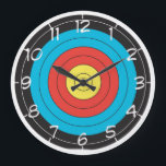 "&quot;Archery Target&quot; design wall clocks<br><div class=""desc"">A fun and funky wall clock featuring fun and funky design. This would make the ideal gift for a friend, family member or a loved one. Heck, why not buy it for yourself. This design is available on both round, square and aqua style clocks all of which would look great...</div>"