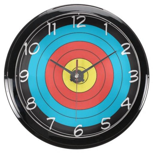 Target Wall Decor Clock : Quot archery target design wall clocks aquarium clock zazzle