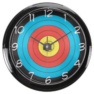 """Archery Target"" design wall clocks Aquavista Clock"