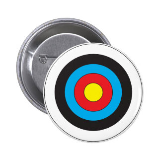 Archery Target Pinback Button