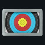 """Archery Target Rectangular Belt Buckle<br><div class=""""desc"""">Archery Target</div>"""