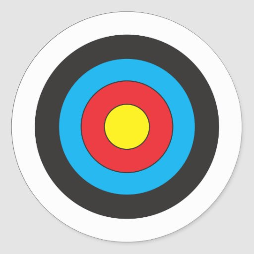 Archery Target Bullseye Archery target round sticker