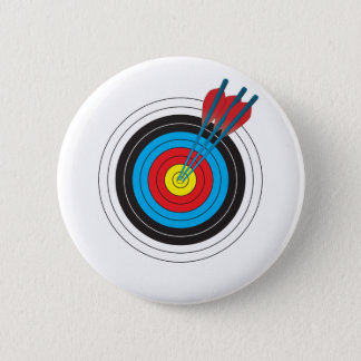 Archery Target with Arrows Button