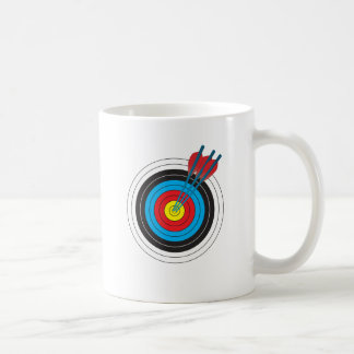 Archery Target with Arrows Coffee Mug