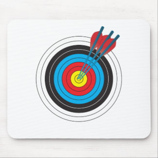 Archery Target with Arrows Mouse Pad