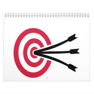 Archery target calendar